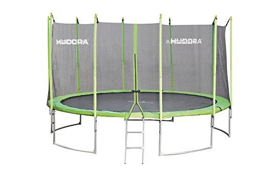HUDORA Family Trampolin 300 cm - Gartentrampolin mit Sicherheitsnetz, grün/schwarz - 65630