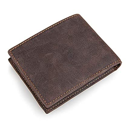 41r oVLh9HL. SS416  - TIDING Cartera de cuero de capa superior Monedero corto retro Cartera de negocios informal Monedero unisex