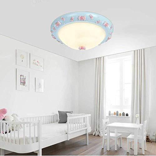 XDD Hohe Deckenleuchte, Kreative Cartoon Art Schlafzimmer/Kinderzimmer Beleuchtung, LED Harz Runde Deckenleuchte,Cc,Vier-Farben-Dimmen