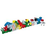 Steckpuzzle Buchstaben- und Zahlentiere aus Holz, dieses Lernspiel fördert die Motorik und Geschicklichkeit, spielerisch wird die Reihenfolge von Buchstaben und Zahlen erlernt, für Kinder ab 5 Jahre