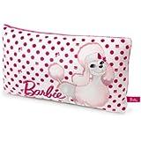 Nici 33988 Barbie - Cojín con diseño del caniche Sequin (rectangular, 43 x 25 cm), color blanco y rosa