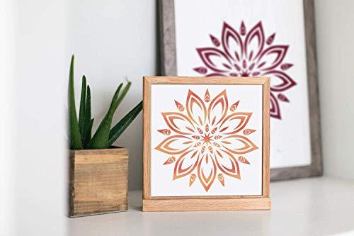 Schablone Mandala Ornament - für die Gestaltung von Wänden, Möbeln, Stoff, Textilien -