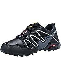 9ded6120 Zapatillas Running para Hombre Aire Libre y Deporte Transpirables Casual  Zapatos Antideslizante Deportivas Montañismo Atletismo Zapatos