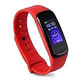 WMWMY Men's Sports Watch Smart Sport's Watch Herrenuhr Schrittzähler Digitaler Herzfrequenzmesser Astronomische Uhr, Rot