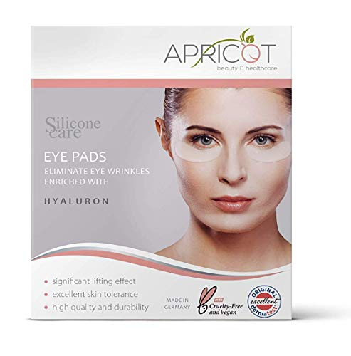 NEU! Silicone care® Augen Pads mit Hyaluron von APRICOT® I Augenpflege mit Hyaluron Anti Aging für Augen I Anti Falten Pads Gegen Falten I Wiederverwendbare Silikonpads