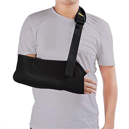 Tbest Armschlinge Schulter Verletzung, justierbarer Breathable Linker/Rechter Arm Riemen Schulter Wegfahrsperre Weicher Gepolsterter Breathable Schulter Bügel für Erwachsene Frauen Männer -