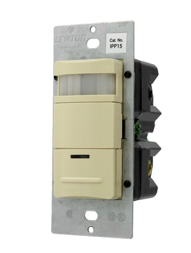 Leviton Single Pole oder 3-Wege, manuell On/Auto OFF, neutral erforderlich, 15Amp, 120VAC, NAFTA Glühlampen, Belegung Sensor elfenbeinfarben (Led-belegungs-sensor-licht)
