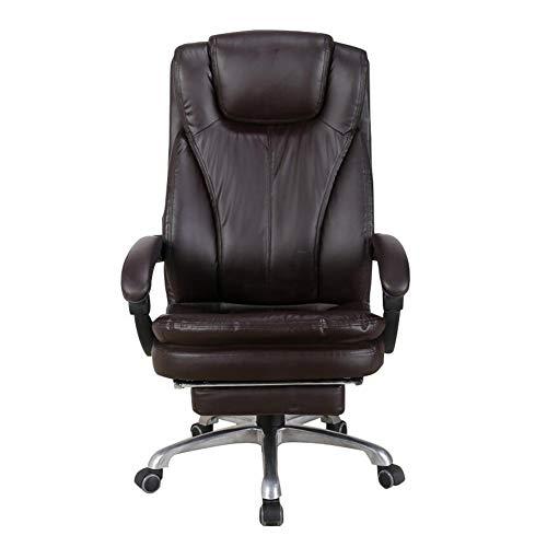 Dall sedia da ufficio ergonomico sedia girevole per computer sedile in pu regolabile sedia della scrivania reclinabile (colore : brown)