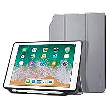 Spigen 053CS23995 Folio Case for 9.7 Inch Tablet - Grey - Case for 9.7 Inch Tablet (Folio, Apple, iPad 9.7 Inch (2018/2017), 24.6 cm (9.7 Inch), Grey