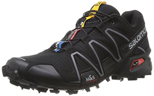 Salomon Speedcross 3 W, Scarpe da Trail Running Donna, Black/Si, 41.3 EU