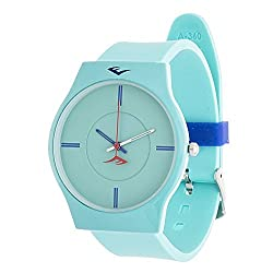Everlast Analog Monochrome Sports Watch, Turquoise Silicone Strap