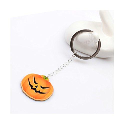 Adisaer Damen Schlüsselanhänger Vergoldet Teufel Wütendes Gesicht Kürbislaterne Schlüsselring Orange Halloween Geschenk - Halloween-make-up Ideen Für Einfache
