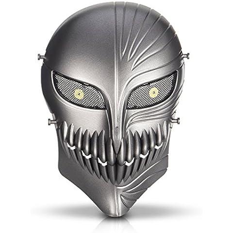 HanLuckyStars Máscara Táctica Protectora para Airsoft Máscara de Esqueleto para Airsoft / Paintball / BB pistola / CS Fiesta de Halloween Juego de