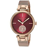 Anne Klein Womens Quartz Watch, Analog Display and Stainless Steel Strap AK3000BYRG