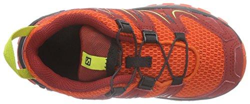 SalomonXA Pro 3D K - Scarpe da Trail Running Unisex – Bambini, colore , taglia Multicolore ( Tomato Red / Flea / Gecko Green )