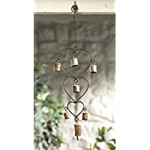 Wind chime with Hearts and Bells Recycled Iron Fair Trade by Namaste