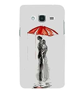 FUSON Love Couple In Umbrella 3D Hard Polycarbonate Designer Back Case Cover for Samsung Galaxy J2 (6) 2016 J210F :: Samsung Galaxy J2 Pro (2016)