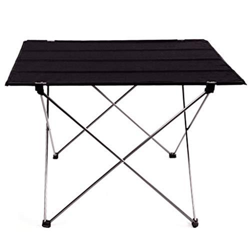 RLY Tabelle im Freien, helles rutschfestes faltendes Schreibtisch-bewegliches faltbares kampierendes Möbel-Computer-Tabellen-Picknick (Color : Silver, Size : XL) -