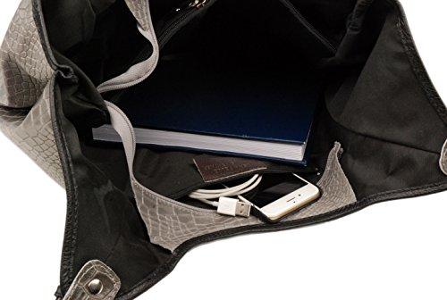 Slingbag Düsseldorf, Borsa tote donna Grigio grigio Für den Alltäglichen Gebrauch gut geeignet. Die Produktmaße entnehmen sie bitte aus den Produktdetails., nero (Grigio) - 4251042505244 marrone