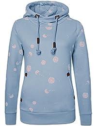 Sublevel Damen Sweathoodie - Pusteblume | Allover Print Kapuzenpullover | Basic Hoodie aus hochwertiger Baumwolle mit Aufdruck