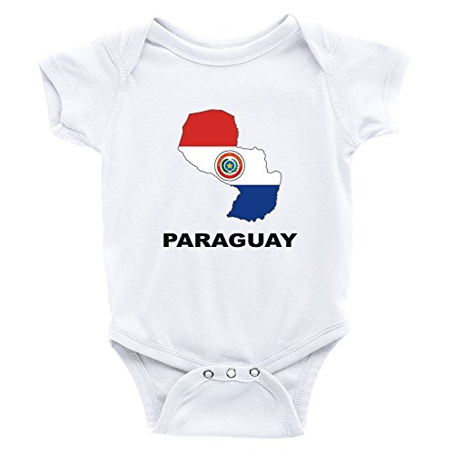 Teeburon Paraguay Country Map Color Body de bebé