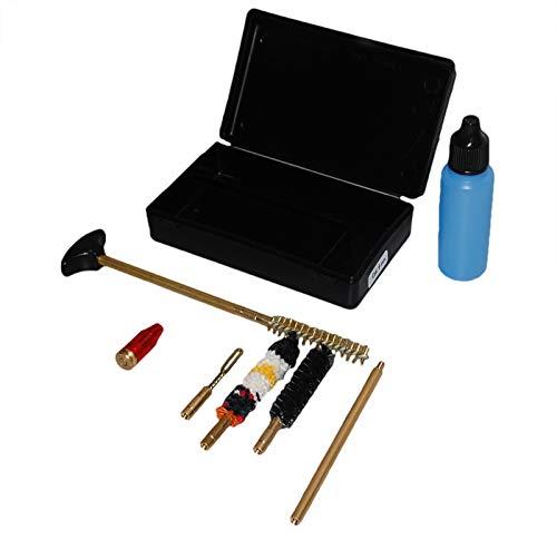 Flachberg Waffenpflegeset 9mm Luger/ 38 Special / 357 Magnum Waffenreinigungsset Laufreiniger Putzstock mit 1/8 Zoll Pocket Size Pistol Cleaning Kit Pufferpatrone 9mm -