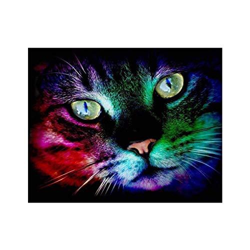 Gankmachine 5D DIY Halloween Schmetterling Katzen-Kürbis Strass Malerei Kristall Stickerei Bild Startseite Dekorative Diamant-Kreuz-Stich