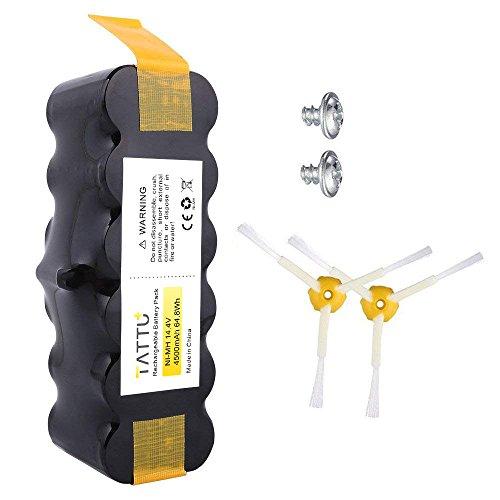 TATTU 14.4V 4500mAh Ni-MH batería de repuesto para iRobot Roomba 500 600 700 800 de la serie 510 530 531 532 533 534 535 540 545 550 552 555 560 562 570 580 581 582 585 595 620 630 650 660 760 770 780 790 870 880 R3 80501 4419696