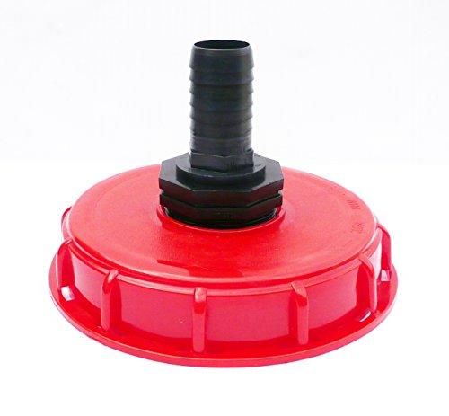 Bouchon de réservoir IBC Topfill Filetage épais (15,2 cm) avec droites Queue de tuyau d'arrivée d'eau 1.1/4\