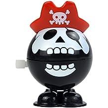 LUOEM Cráneo pirata parloteo dientes Wind Up juguetes novedad Halloween Plaything Halloween juguetes regalo de cumpleaños