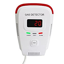 Techamor Plug-In Combustible Natural Gas Detector Alarm with Voice Warning and Digital Display from hengxinruihui