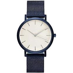 Watches Ularma Fashion Women Crystal Stainless Steel Analog Quartz Wrist Watch Bracelet Blue