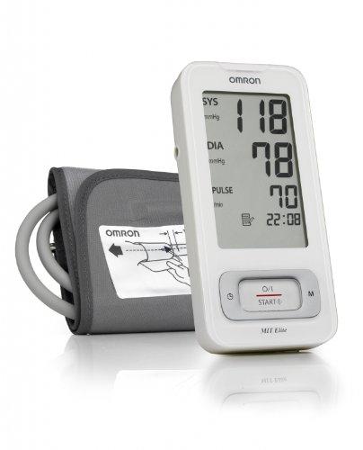 Omron MIT Elite Misuratore di Pressione da Braccio Digitale, Sensore di Irregolarità Battito Cardiaco, Schermo Grande, Facile da Usare