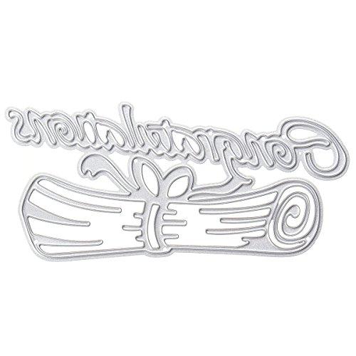 Masunn congratulazioni lettera tema scrapbooking diy album carta diario craft maker metallo taglio stampi