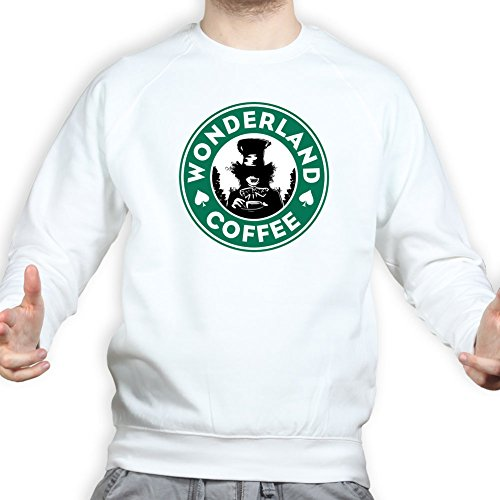 Wonderland Coffee Sweatshirt 3XL White