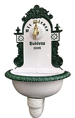 Brunnen Wandbrunnen 72cm Aluminium Waschbecken im Nostalgie antik Stil fountain von aubaho - Du und dein Garten