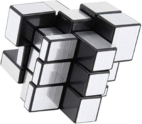 FunnyTool Mirror Cube 3x3 Rubik Cube High Speed Stickerless Silver Brainstorming Puzzle Game Toy