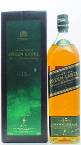 Walker Johnnie Label Green (Johnnie Walker Green Label 15 Jahre 1 Liter)