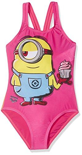 Arena G Minions Stuart Jr, Badeanzug Mädchen, Kind, G Minions Stuart Jr, mehrfarbig (Stuart Kostüm Kind)
