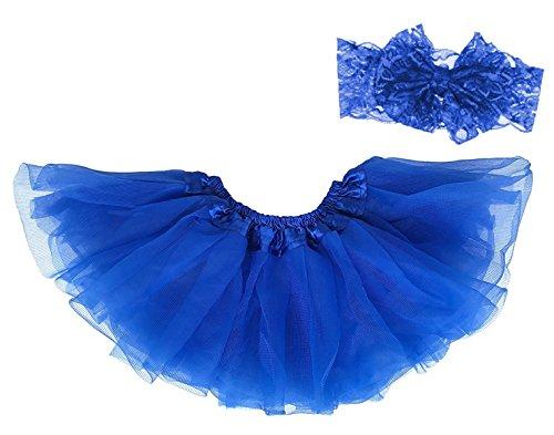 Dancina Baby Tüllrock Tutu Classic Set m. Passendem Haarband Blau Classic 6-23 ()