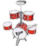 The Voice Kids Schlagzeug für Kinder Schlagzeug Set mit Hocker