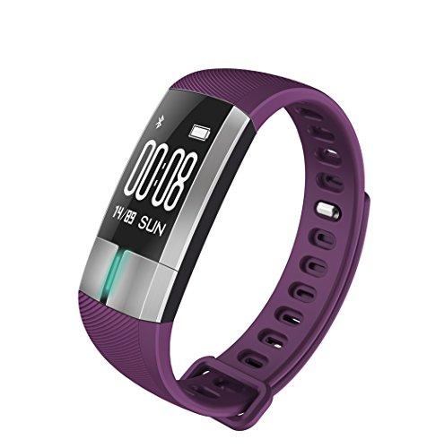 Ekg-anzeige (Smart-Armband ● Herzfrequenz-Blutdruck ● EKG-Anzeige ● IP67 wasserdicht ● Bluetooth ● Sportschrittzähler ● für Android- oder iOS-Smartphones)