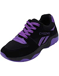 OSYARD Basket de Course Femme Chaussures Mode Running Espadrilles Maille Lacets Sneaker Jogging Fitness Fond épais Sport Shoes