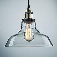 klsd industriale vintage edison vetro trasparente soffitto dello schermo sospensione della lampada del dispositivo per la cucina loft camera