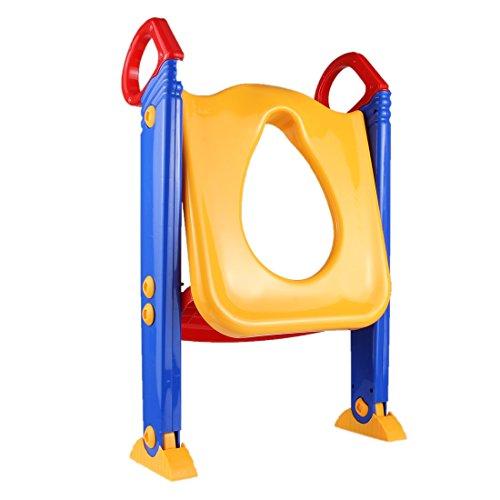 Oval Naturborsten-bürste (XINGRUI Badebaby Faltbarer Kindertöpfchen-Toilettensitz mit Leiter für U-förmige oder ovale Toilette)