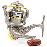 #2: Zorbes GS - 1000 Metal Spool Spinning Fishing Reel Folding Arm 12-Ball Bearing 5.1 : 1