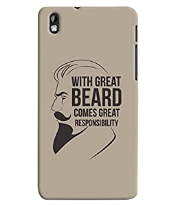 ColourCrust HTC Desire 816 Mobile Phone Back Cover With Beard Quote Quirky - Durable Matte Finish Hard Plastic Slim Case
