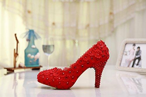 Cuneo Centimetri Minitoo Di Donna Tacco Rosso Rosso otto 8gwqgpZE