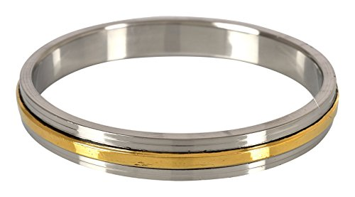 The Amritsar Store Punjabi Mens Kada (Stainless Steel & Brass) 8 mm thickness (3.0)