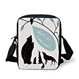 KLYDH Quirky Decor,Forest Animals Meeting Bird Bringing Good News to His Friends,Light Blue Black...